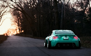 Обои Rear, Turquoise, Works, GT86, Toyota, Stance
