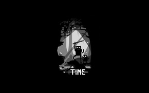 Обои dark, Adventure Time, Jake, Finn
