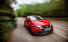 Обои Honda, хонда, Civic, UK-spec, цивик, Type R, 2015