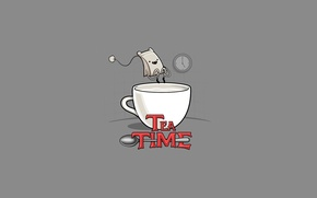 Обои пародия, Adventure Time, Tea Time, пакетик
