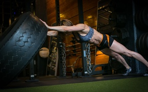 Обои crossfit, workout, tire, elongation