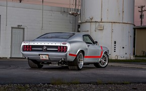 Обои 1969, Ford, Muscle, Mustang, Silver