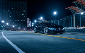 Обои Aristo, i8, BMW, Night, Black, Front, Collection