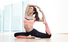 Обои female, yoga, pose, girl