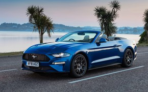 Обои Ford, Mustang, 2018, Ecoboost, Convertible