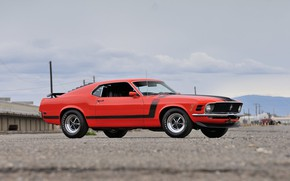 Обои Boss 302, Ford Mustang, Fastback, 1970, muscle classic