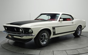 Обои Boss 302, Ford Mustang, 1969, muscle classic
