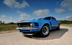 Обои Boss 302, Ford Mustang, Fastback, 1970