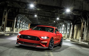 Обои Mustang GT, Level 2 Performance Pack, 2018, Ford
