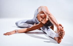Обои elongation, brunette, yoga, pose