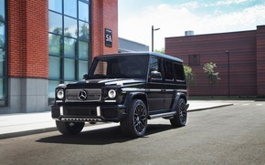 Обои Black, AMG, G63, Brick, Mercedes