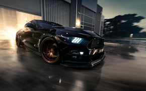 Обои Ford, Mustang, Muscle, Car, Black