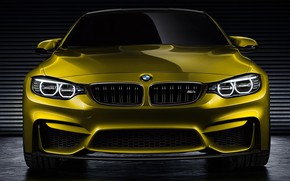 Обои Bmw, Car, Gold