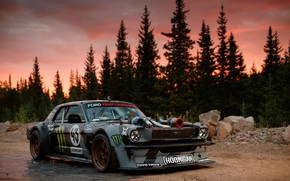 Обои Larry Chen, Hoonicorn, Ken Block, 1965, 1400HP, Mustang, Ford