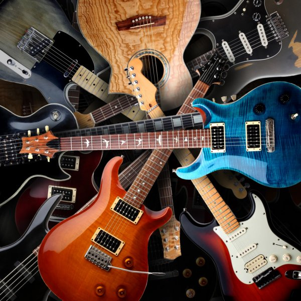 Electric guitars background — стоковое фото